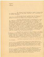 """TEMOIGNAGE D'UNE EPOQUE """"JUILLET 1944 ... DE VISITES REITEREES DE LA POLICE ALLEMANDE ..."""" OCCUPATION NAZIE - Historical Documents"""