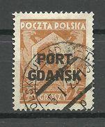 Port Gdansk Poland Danzig 1928 Michel 19 O Signed - Dantzig