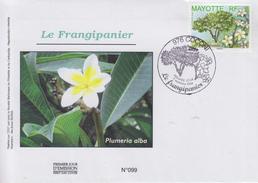 Enveloppe  FDC  1er  Jour    MAYOTTE   Le  Frangipanier   COCONI   2006 - Mayotte (1892-2011)