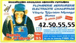 PLAN RESEAU  RAPIDO Et COSTO  Seine-St-Denis  RATP M RER Paris JUIN 1989 - Europe