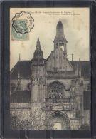 6085. CHAUMONT EN VEXIN .  PORTAIL OCCIDENTAL DE L EGLISE .  (recto Verso)  ANNEE  . 1905 . PAP. BOURGEOIS - Chaumont En Vexin