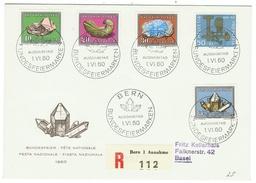 Suisse // Schweiz // Switzerland //  Pro-Patria  // 1960 Série Complète Sur Lettre Recommandée 1er Jour - Pro Patria