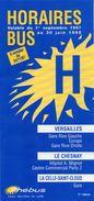 PLAN RESEAU  PHEBUS  HORAIRES *Versailles *Le Chesnay *La Celle-Saint-Cloud  ANNEES 1997/1998 - Europe
