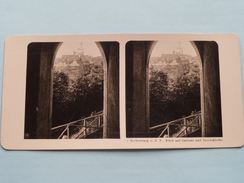 ROTHENBURG O. D. T. (3) Blich Auf Rathaus Und Jacobskirche / Stereo Photo ( Look For Detail ) ! - Stereoscopic