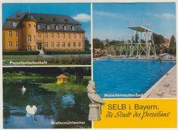 AK  Selb Porzellanfachschule Freibad Grafenmühlweiler - Selb