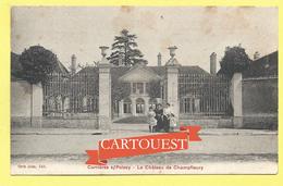 CPA CARRIERES SOUS POISSY Le CHATEAU De CHAMPFLEURY Belle Animation - Carrieres Sous Poissy