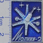 11 Space Soviet Russia Pin. The Communication Satellite Molniya-2 - Space