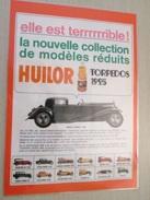 DIV415 : Publicité PALQUETTES METALLIQUES HUILOR LES TORPEDOS 1925-  Pour  Collectionneurs ...   Page De Revue Des Année - Advertising (Porcelain) Signs