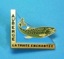 1 PIN'S //  ** AUBERGE ** LA TRUITE ENCHANTÉE ** LE PONT-de-MONTVERT ** . (1991) - Food