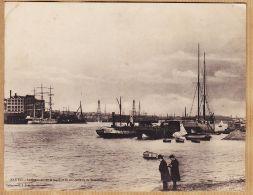 Jo640 Carte-Double 18x14 NANTES Bateaux CECILE Et BEAVER Panorama LOIRE Quais Vu De TRENTEMOULT Cpbat 1900s G.I.D - Nantes
