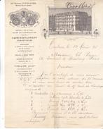 31 Toulouse- Grand Hotel TIVOLLIER, Rue Alsace Lorraine.très Jolie Lettre Illustrée De 1895 Tb état. - France