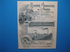 (1899) SOCIÉTÉ ARDOISIÈRE DE L'ANJOU à Renazé, Trélazé-Angers, Grand Auverné, Noyant La Gravoyère - Vieux Papiers
