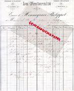51- BOULT SUR SUIPPE- RARE FACTURE LA FRATERNITE- PEIGNAGE FILATURE TISSAGE MECANIQUE DE MERINOS- HENNEGRAVE PHILIPPOT- - Textile & Vestimentaire