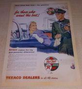 Texaco – Pompe à Essence - Pétrole - Voiture - Sky Chief Gasoline - Petrox  (Publicité) - Pubblicitari