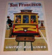 Tram - Californie - San Francusco - United Air Lines (Publicité) - Pubblicitari