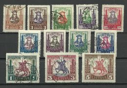 LITAUEN Lithuania 1930 = 12 Values From Set Michel 293 - 306 Mint & Used - Lithuania