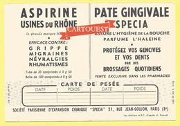 STE PARIS D'EX CHIMIQUE SPECIA 21 Rue Jean Coulon PARIS 8- ASPIRINE USINE DU RHONE - PATE GINGIVALE -LES Porteurs  D Eau - Produits Pharmaceutiques