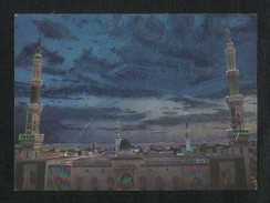 Saudi Arabia Silver Shining Picture Postcard Holy Mosque Medina Madina View Card - Arabie Saoudite