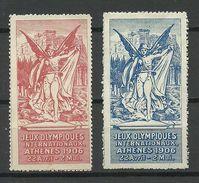 VIGNETTES JEUX OLYMPIQUES ATHENES 1906 */(*) - Commemorative Labels