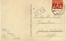 "Netherlands Woerden 1.II 1926.,,3"" - BLOKSTEMPEL A 51.Postcard - 1000 Groeten. Old Car.automobile.cars - Lettres & Documents"