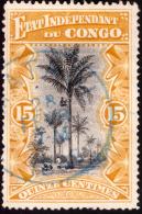 Congo 0020 (o) 15c Ocre  Paysage - Congo Belge