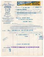 - FRANCE - Facture SOCIETE CENDRE-LESSIVE SAINT-MARC, BORDEAUX 19.4.1934 - - Profumeria & Drogheria