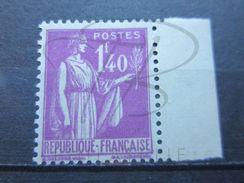 VEND BEAU TIMBRE DE FRANCE N° 371 + BDF , XX !!! - 1932-39 Peace