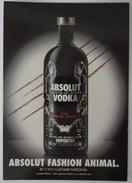 666-Cartolina Promocard PC N.7309 Absolut Vodka Collection - Pubblicitari