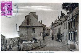 Cpa(02) Vervins - Rue Jacob Et Rue Moulins (sepia) - Féroé (Iles)