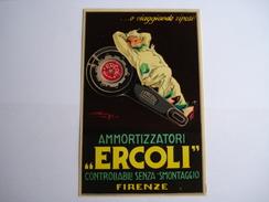 Cartolina Postale , Ammortizzatori  Ercoli , Controllabili Senza Smontaggio , Firenze , Anys Illustrateur , Dim 14 X 9cm - Italia