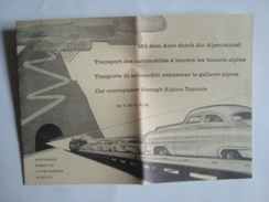 GOTTHARD. SIMPLON. LÖTSCHBERG. ALBULA. CAR CONVEYANCE THROUGH ALPINE TUNNELS - SWITZERLAND, 1955. - Eisenbahnverkehr