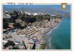 1 AK Spanien * Blick Auf Die Klippen Und Den Strand Von Nerja An Der Costa Del Sol - Luftbildaufnahme * - Spanien