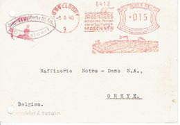 ALLEMAGNE CP Publ. 1940 JAGENBERG Ayant Circulé De DUSSELDORF à OREYE (BELGIQUE) - Geprüft Oberkommandando Der Wehrmacht - WW II