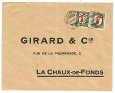 Suisse // Schweiz // Switzerland //  Pro-Juventute  //  Lettre Pour La Chaux-de-Fonds 14.02.1927 - Lettres & Documents