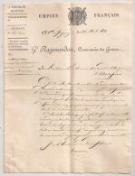 2 DOCS  1810 EMPIRE FRANCAIS COMMISSAIRES DES GUERRES A HOSPICE MIREPOIX /  CIRCULAIRE ADMIN GUERRE MILITARIA AR120 - Documenti Storici
