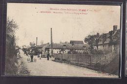 CPA 76 - MESNIERES - Mesnières - MESNERETTES - L'Usine Et Route De Dieppe - ANIMATION Sur Chemin + INDUSTRIE Cheminée - Mesnières-en-Bray