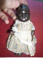 Poupée Ancienne Allemagne 18,5 Cm . Poupon Noir En Robe HEUBACH-KOPPELSDORF 1887 - 1932 ! - Dolls
