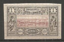 C SOMALIS - Yv. N°  6  * 1c  Dijibouti  Cote  4,75 Euro  BE 2 Scans - Ungebraucht