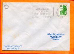 DEUX SEVRES, Mauleon, Flamme à Texte, Vision Cuir, 23-25 Octobre - Storia Postale