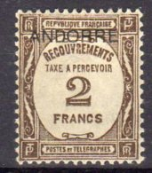 Andorre Timbre Recouvrement N° 14* Cote 235 - Unused Stamps