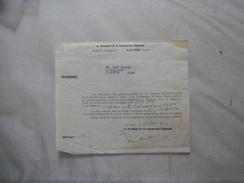 LA FERE AISNE LE 28 MARS 1940 LE  PRESIDENT DE LA COMMISSION REGIONALE HOTEL DU GOUVERNEUR PRIX DE REQUISITION VEHICULE - Historische Dokumente