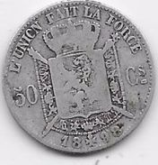 Belgique - 50 Centimes 1898 - Argent - 06. 50 Centimes