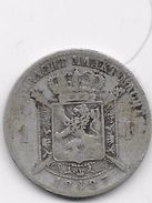 Belgique - 1 Franc 1887 - Argent - 07. 1 Franc