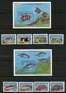 Turks & Caicos, Yvert 867/870&879/882+BF86&89, Scott 836/845 MNH - Turks & Caicos