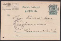 GA Leipzig Zahlenfolge: 11.12. 01. 12- 1N (entspricht 13 Uhr) 1915 Nach Cunewalde - Marcofilia - EMA ( Maquina De Huellas A Franquear)