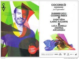 DISCOTECA COCORICO' RICCIONE (RN):  SUMMER 2011 CLOSING PARTY (SVEN VATH)  - RIF. 2320 - Musica E Musicisti