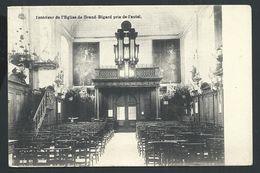 +++ CPA - Intérieur De L'Eglise De GRAND BIGARD Pris De L'autel  - Cachet RELAIS   // - Dilbeek