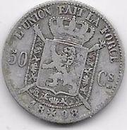 Belgique - 50 Centimes 1898 - Argent - 1865-1909: Leopold II