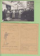 Epreuves De TIR : Une Carte Photo + 1 Carte De La Sté Nationale De Tir, Trocadéro 1908. 2 Scans. Lire Descriptif - Waffenschiessen