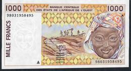 W.A.S. IVORY COAST P11Ah 1000 FRANCS (19)98  1998  UNC. - Côte D'Ivoire